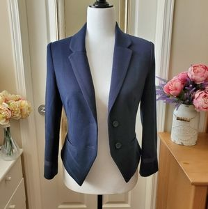 Forever 21 Navy Blue Fitted Blazer Size Small
